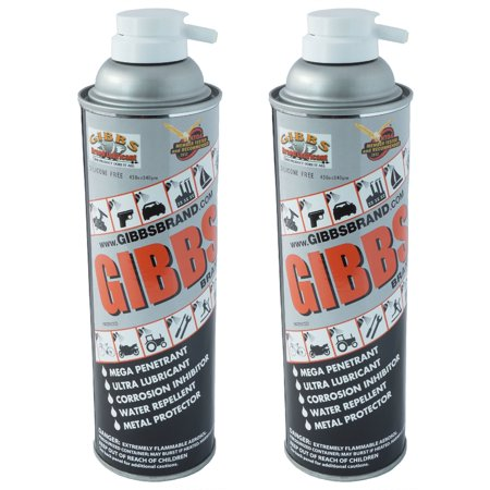 Gibbs Brand Lubricant, Penetrant, Water Repellent, 12 oz Spray Can, Set of 2 (Electronic Water Repellent Spray)