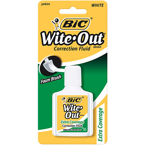 Bic Wite-Out Extra Coverage Correction Fluid-0.7 Ounces
