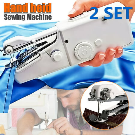 Handheld Portable Stitch Sew Cordless Handy Sewing Machine Quick Repair Tool Universal for DIY Clothing Denim Apparel Sewing Fabric Zippers Crafts Supplies (without (Best Sewing Machine For Apparel)