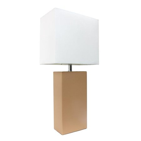 Modern Beige Leather Table Lamp, Beige - image 1 of 1
