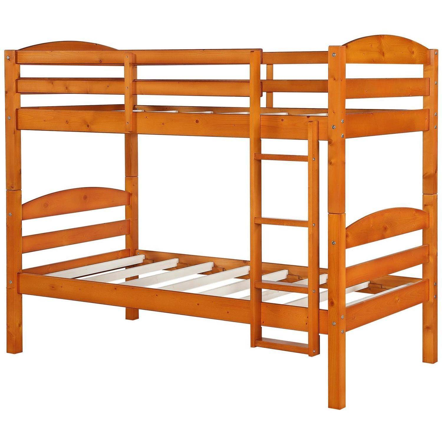 better homes and gardens leighton twin over twin wood bunk bed multiple finishes walmartcom
