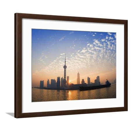 Lujiazui Finance and Trade Zone, with Oriental Pearl Tower, and Huangpu River, Shanghai, China Framed Print Wall Art By Jochen Schlenker](Oriental Trade Com)