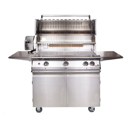 PGS Legacy 39 in. Pacifica 3-Burner Gourmet Built-In Grill with Rotisserie Burner ()