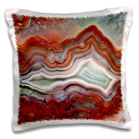 Mexican Lace Agate (3dRose Mexican Crazy Lace Agate - Pillow Case, 16 by)