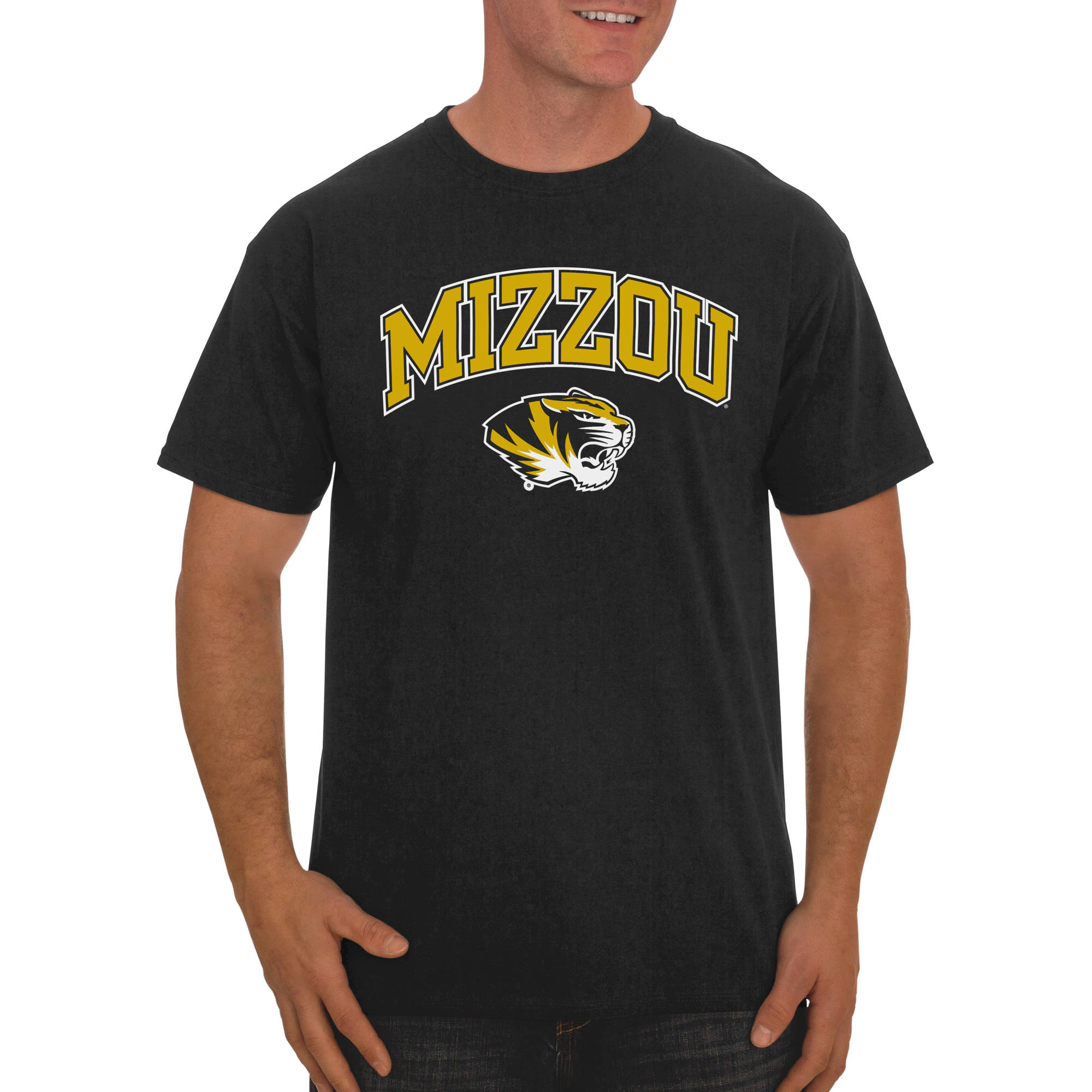 Russell NCAA Missouri Tigers, Men's Classic Cotton T-Shirt