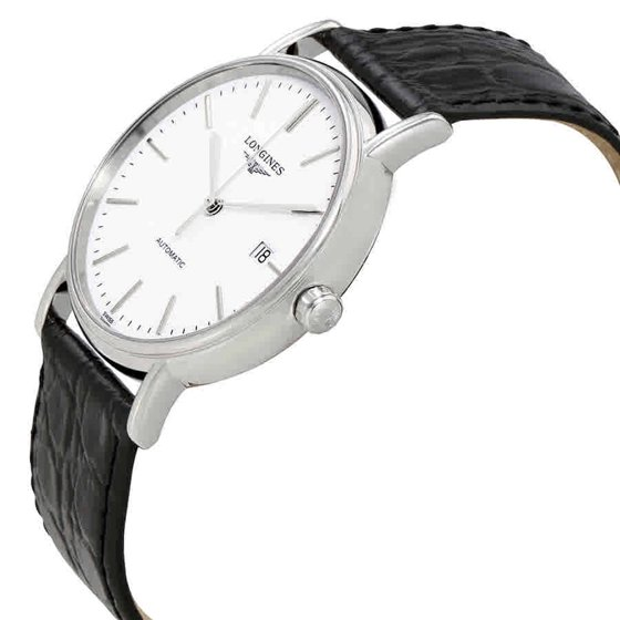 76d0595e28f Functions: date, hour, minute, second. Luxury watch style. Watch label:  Swiss Made. Longines Presence Automatic White Dial Men's Watch L49214122.