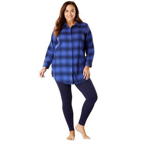 316615800ec Dreams & Co. - Plus Size Plaid Pj Set By Dreams & Co. - Walmart.com