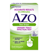 AZO Urinary Tract Infection Test Strips, UTI Test Results in 2 Minutes, 3 ct