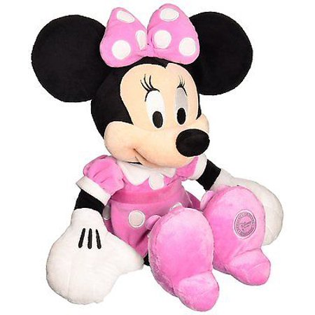 disney mickey mouse clubhouse - minnie mouse 15 inch plush w/ pink dress and bow](Pink Minnie Mouse)