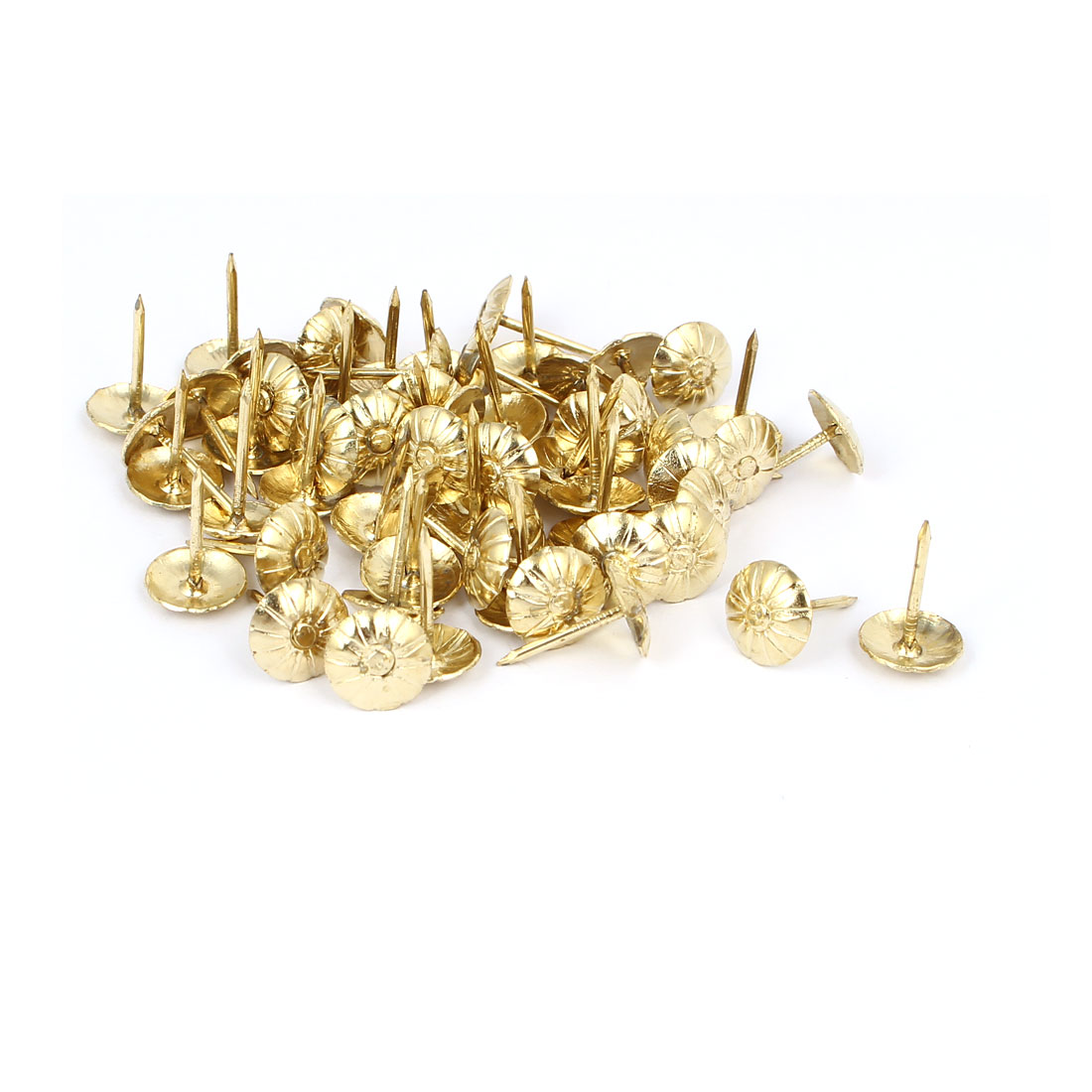 "7/16"" Dia Daisy Upholstery Nail Decorative Tack Stud Push Pin Thumbtack 60PCS"