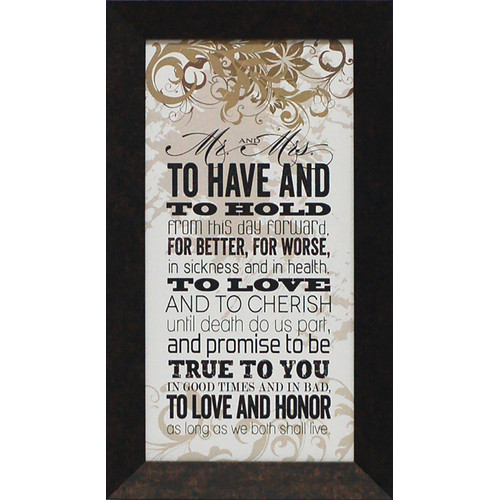 Artistic Reflections Mr. and Mrs. by Tonya Framed Textual Art