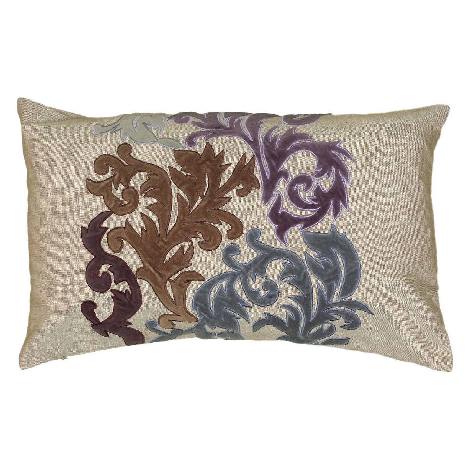 "Rizzy Home Decorative Poly Filled Throw Pillow Damask 12""X20"" Khaki"