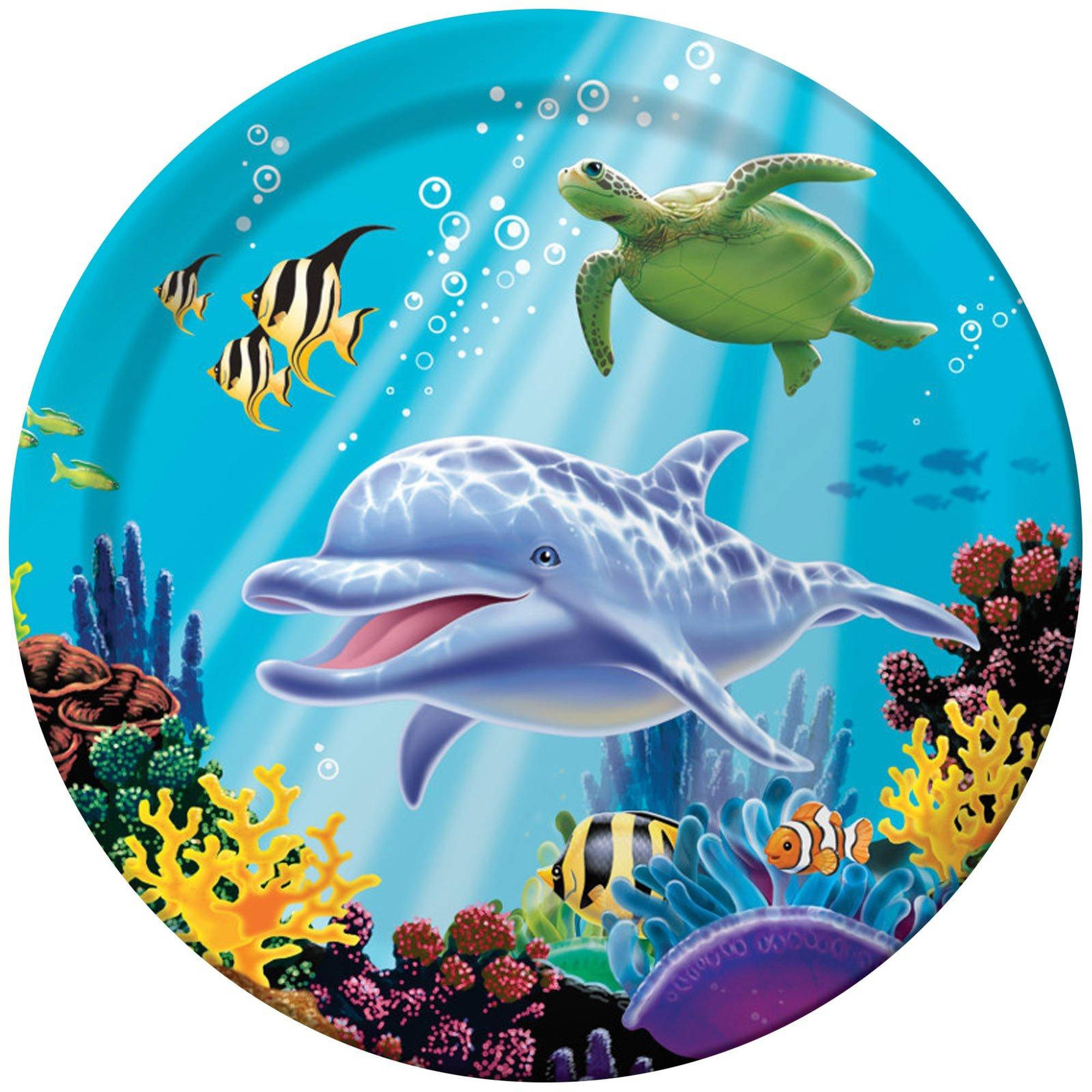 Dolphin Party Dinner Plates, 8pk