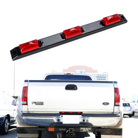 - iJDMTOY Super Red 9-LED Truck Bed Mounted Rear Center Running Lights For Ford F-Truck Super Duty, Dodge RAM Chevy Silverado GMC Sierra Heavy Duty