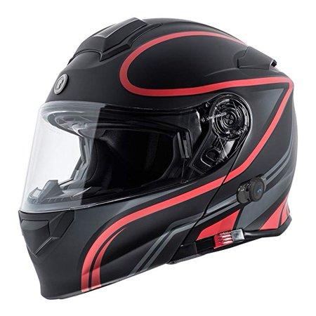 TORC Unisex-Adult Size Style T53 Black Hills Motorcycle Half Helmet with GraphicFlag (Flat, (Motorcycle Flat)