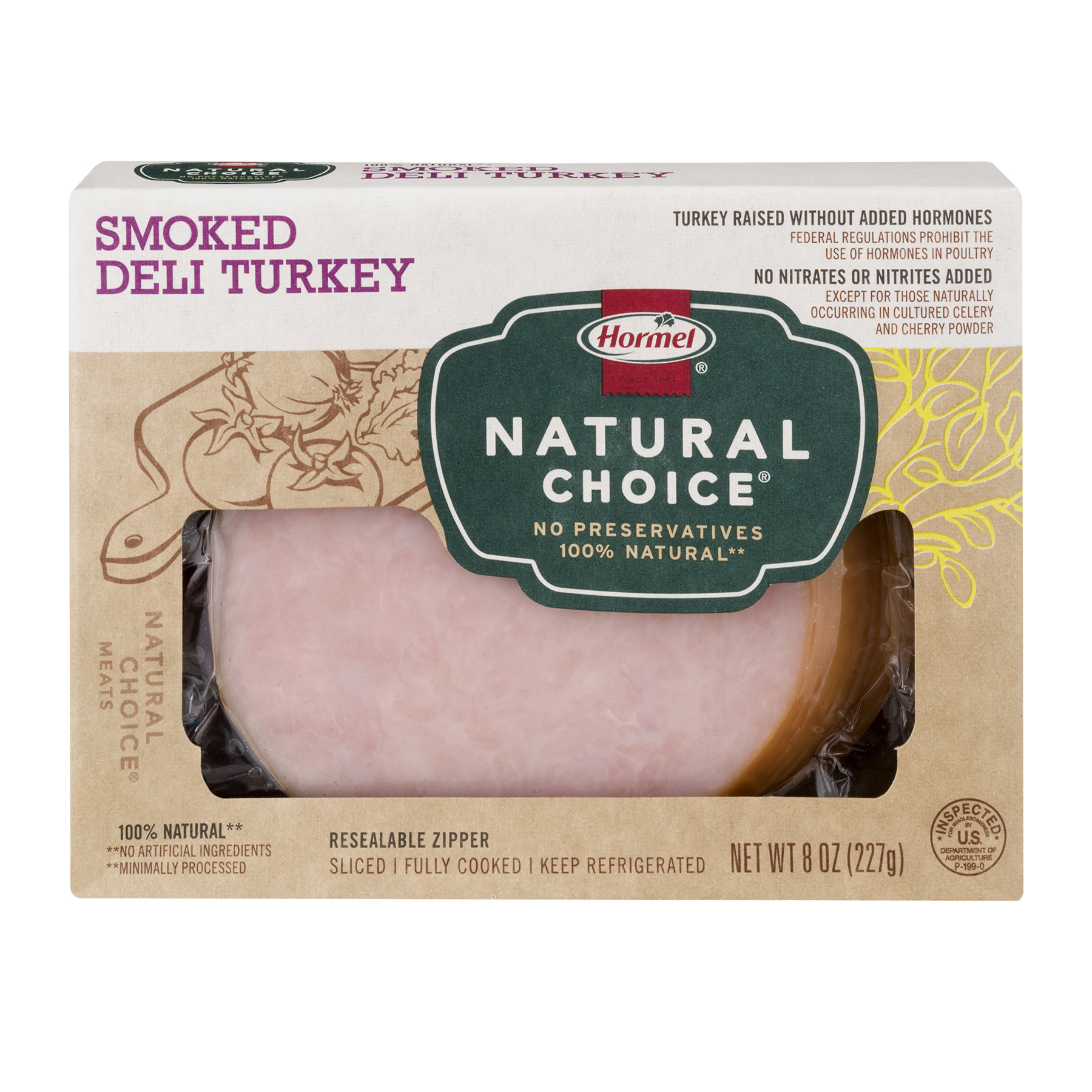 Hormel® Natural Choice® Smoked Sliced Deli Turkey 8 oz. Box