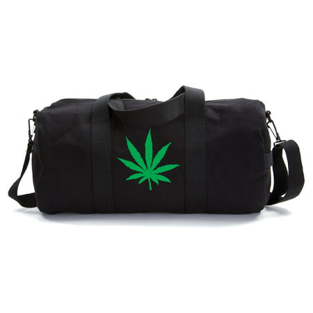 Marijuana Cannabis Leaf Vintage Style Duffle Bag 420 Gym