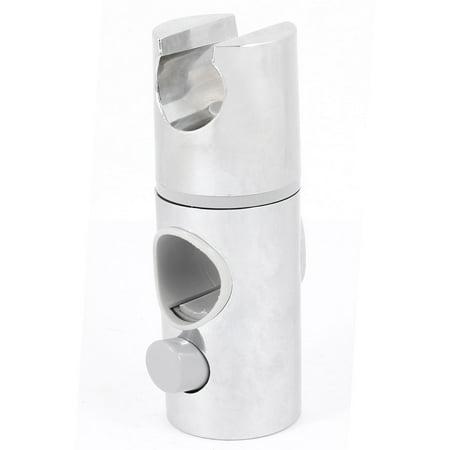 Silver Tone Chrome Plate Plastic Adjustable Rail Slider Shower Holder