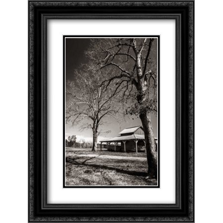 Lewiston Farm II 2x Matted 18x24 Black Ornate Framed Art Print by Hausenflock, Alan ()