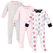 Touched by Nature Baby Girl Organic Cotton Sleep and Play, 3pc