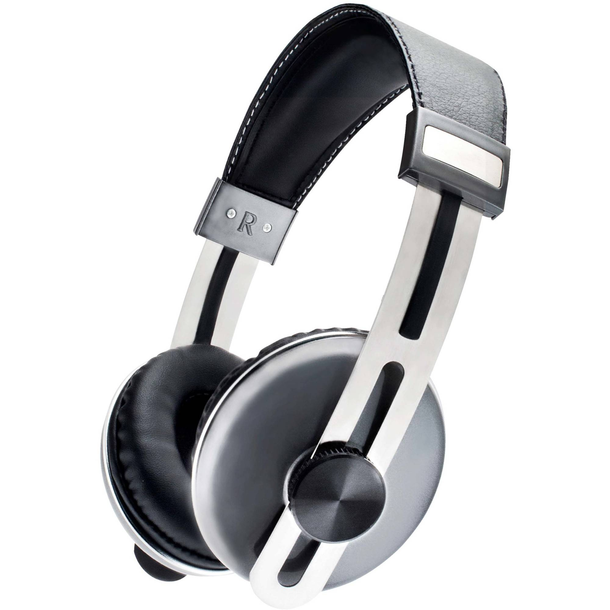 Sentry HM600 Pulse Pro-Series Stereo Headphones with Mic, Black/Grey