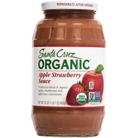 Santa Cruz Organic Apple Strawberry Sauce Jar, 23 Oz ()