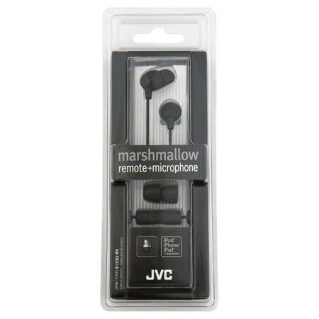 JVC Marshmallow Inner Ear Headphones With Mic - Jvc Black Marshmallow Headphones