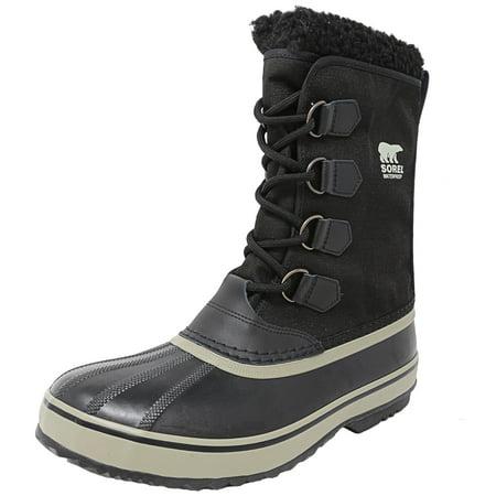 951bd98f48 Sorel Men's 1964 Pac Nylon Black / Tusk Mid-Calf Snow Boot - 12M