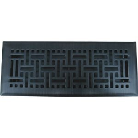 6 X 14 Oil Rubbed Bronze Wicker Floor Register Vent Cover