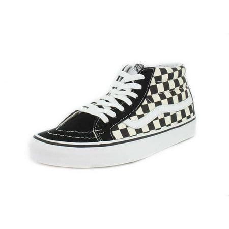 Vans Vans VN 0A391FQXH: SK8 Mid Reissue CheckerboardTrue White Skateboarding Shoes (8 D(M) US Men, CheckerboardTrue White)
