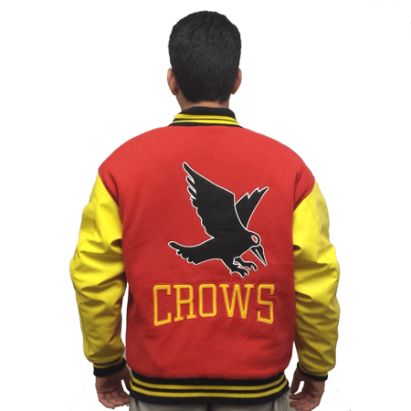 Crows Varsity Jacket Smallville Clark Kent Superman Coat Letterman Costume TV - All Time Low Varsity Jacket