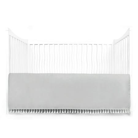 - Microfiber Crib Skirt Dust Ruffle w/Tassel