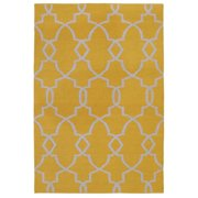 Kosas Home  Handwoven Lily Indoor Outdoor Gold Recycled Plastic Rug (2' x 3')