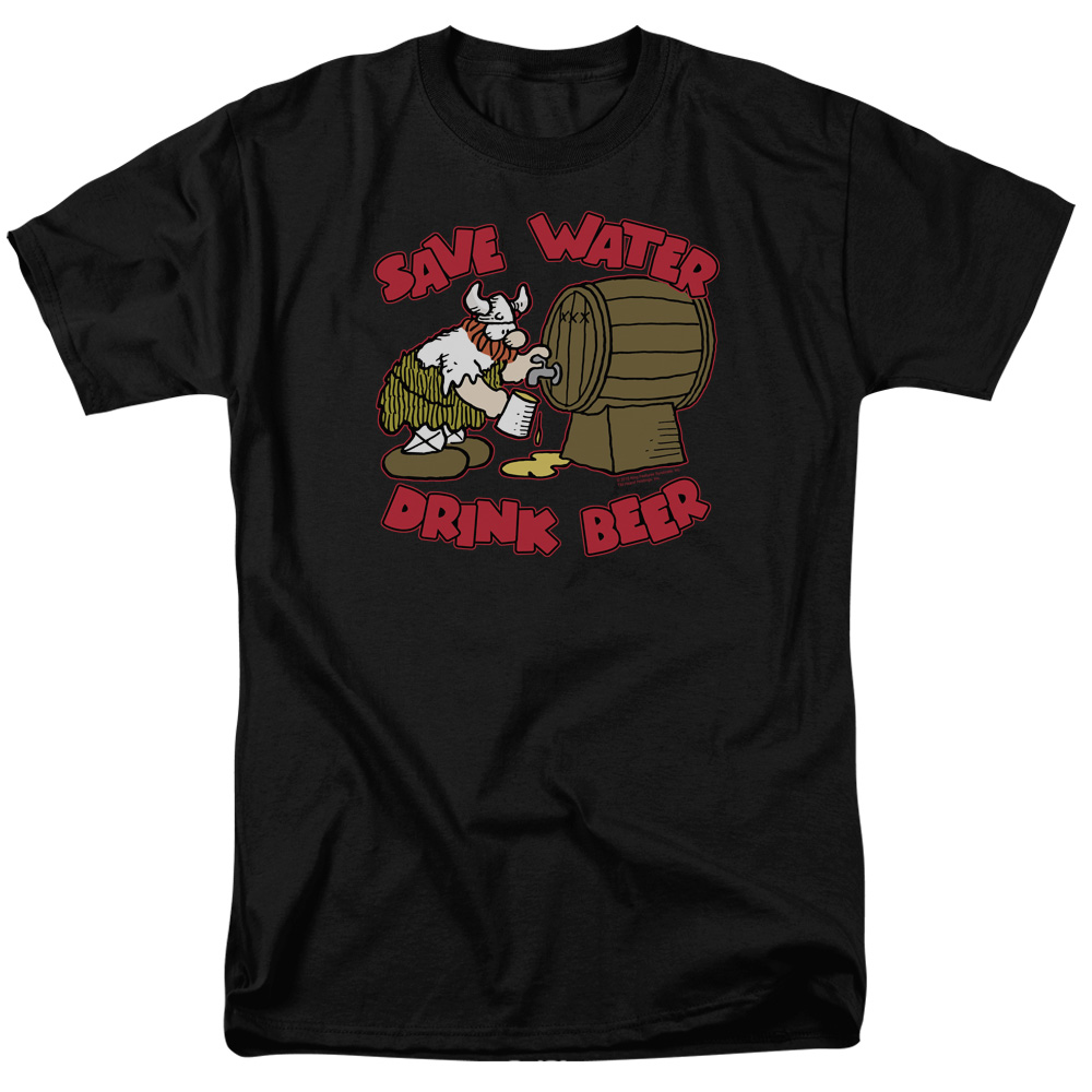 Hagar The Horrible Save Water Drink Beer Mens Short Sleeve Shirt