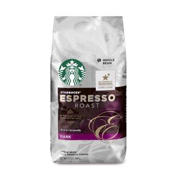 3-Pack Starbucks Espresso Roast Dark Roast Whole Bean Coffee