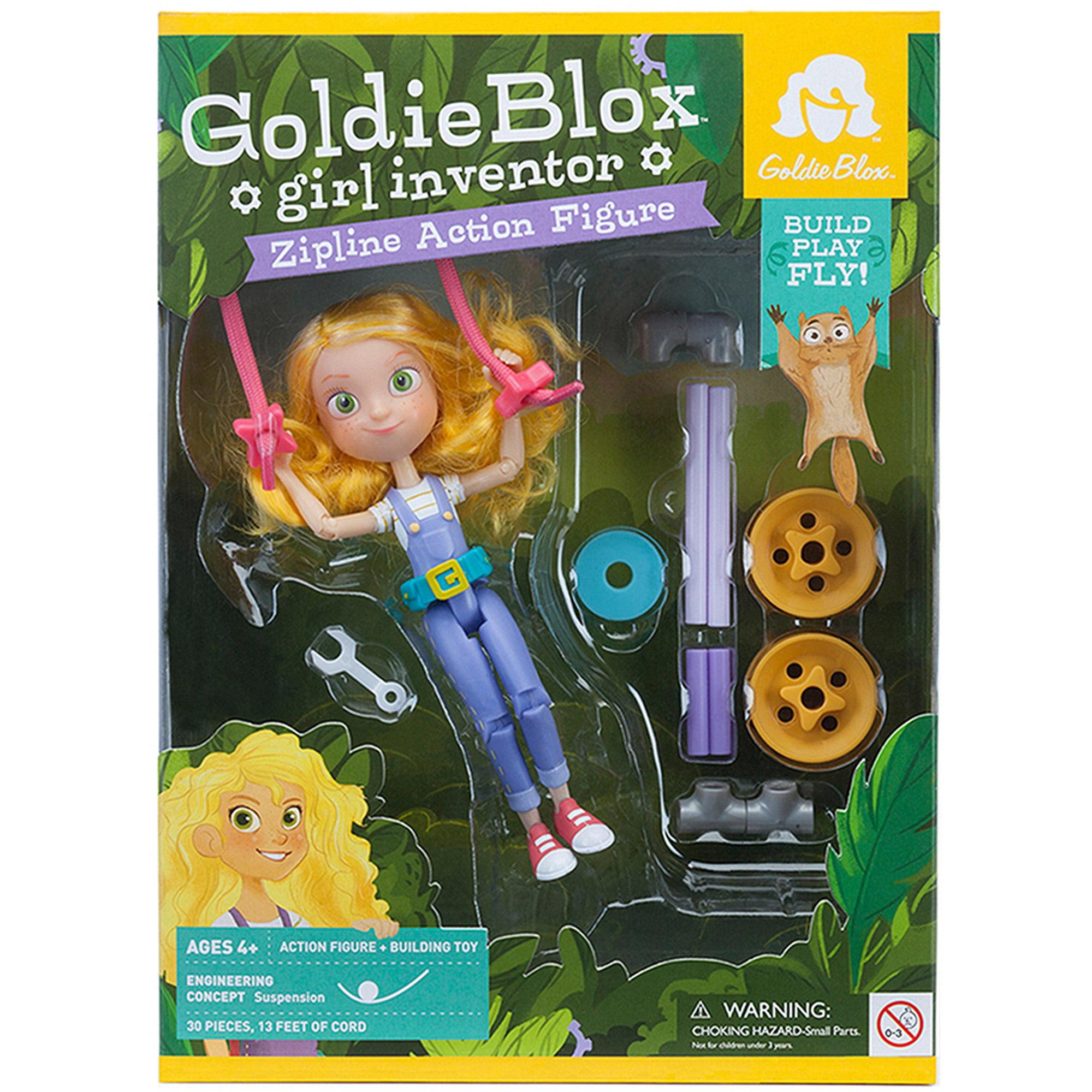 GoldieBlox Girl Inventor Zipline Action Figure by GoldieBlox