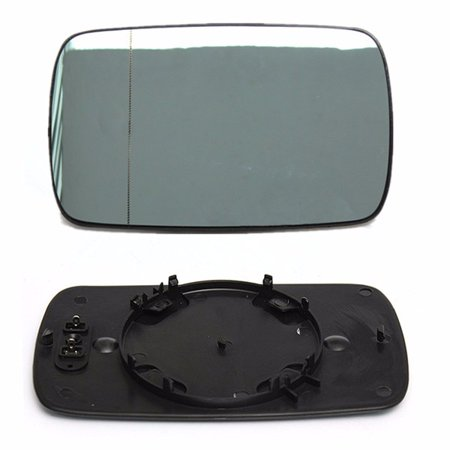 MATCC Left Driver Side Blue Heated Wing Door Mirror Glass For  3 Series E46 98-05 Saloon Compact Touring 316 318 320 323 328 325 330 US