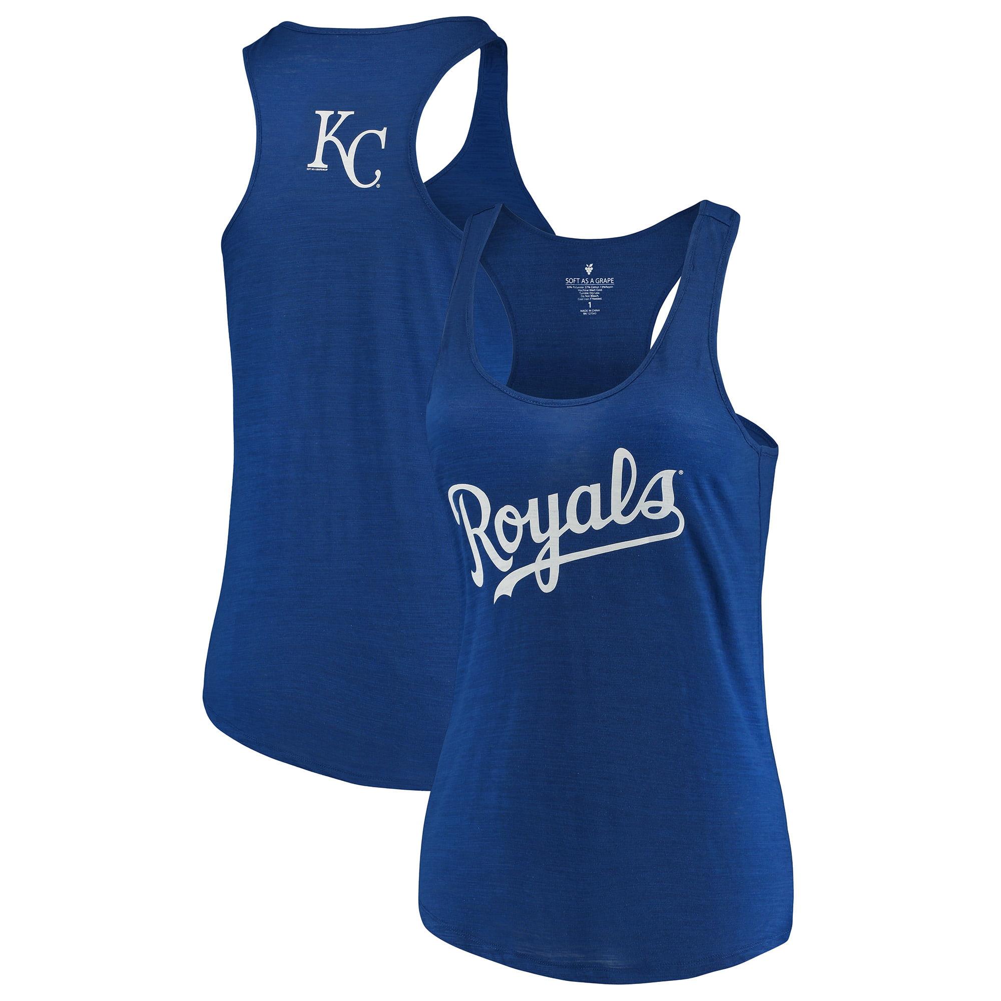 Kansas City Royals Soft as a Grape Women's Plus Size Swing for the Fences Racerback Tank Top - Royal