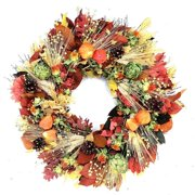 Dried Flowers and Wreaths LLC Chinese Lantern and Artichoke Wreath
