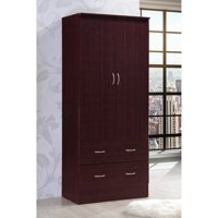 Hodedah Imports 2 Drawer 2 Door Wardrobe