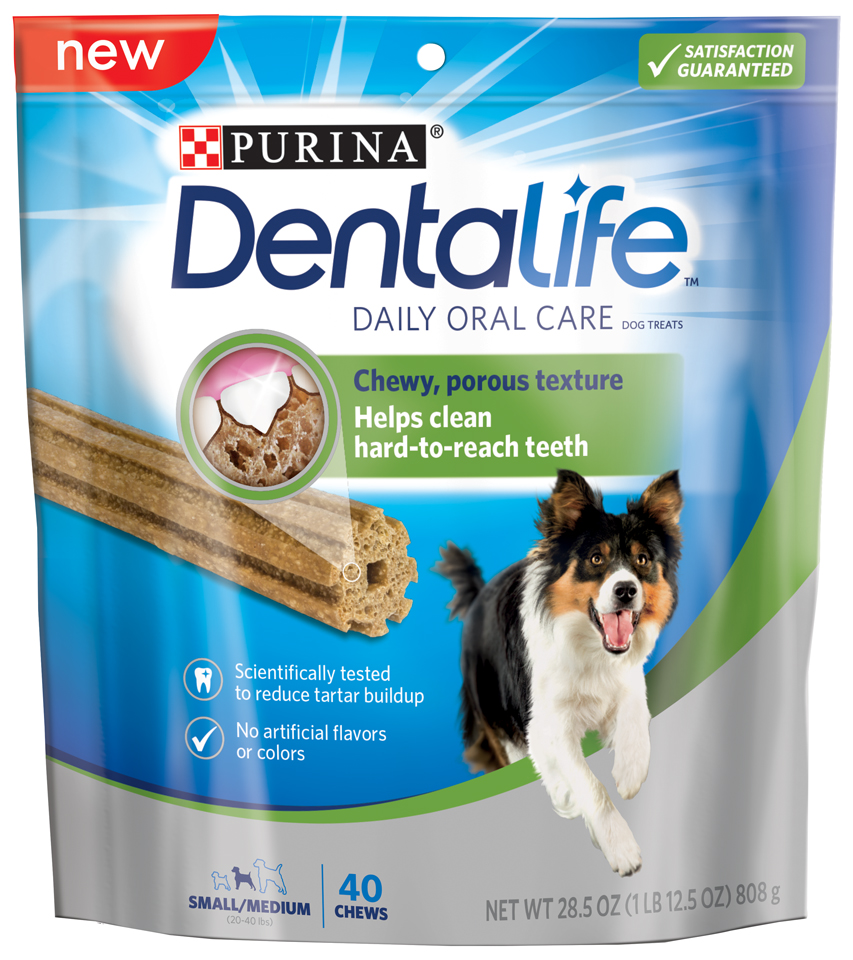 Purina DentaLife Daily Oral Care Small Medium Dog Treats 40 ct Pouch by Nestle Purina Petcare Company