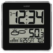 La Crosse Technology LCR512B811B Large-digit Atomic Clock With Indoor-outdoor Temprature & Forecast