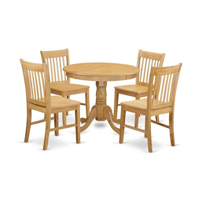 Dining Table For Small Spaces & 4 Room Chair, Oak