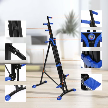 2 In 1 Portable Vertical Climber Total Body Workout Cardio Machine Folding Stair Fitness