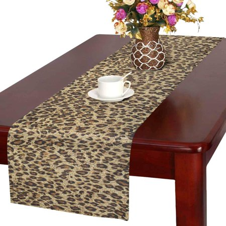 YUSDECOR Beautiful Tiger Colorful Wild Animal Print Table Runner for Office Kitchen Dining Wedding Party Banquet 16x72 Inch - image 2 of 2