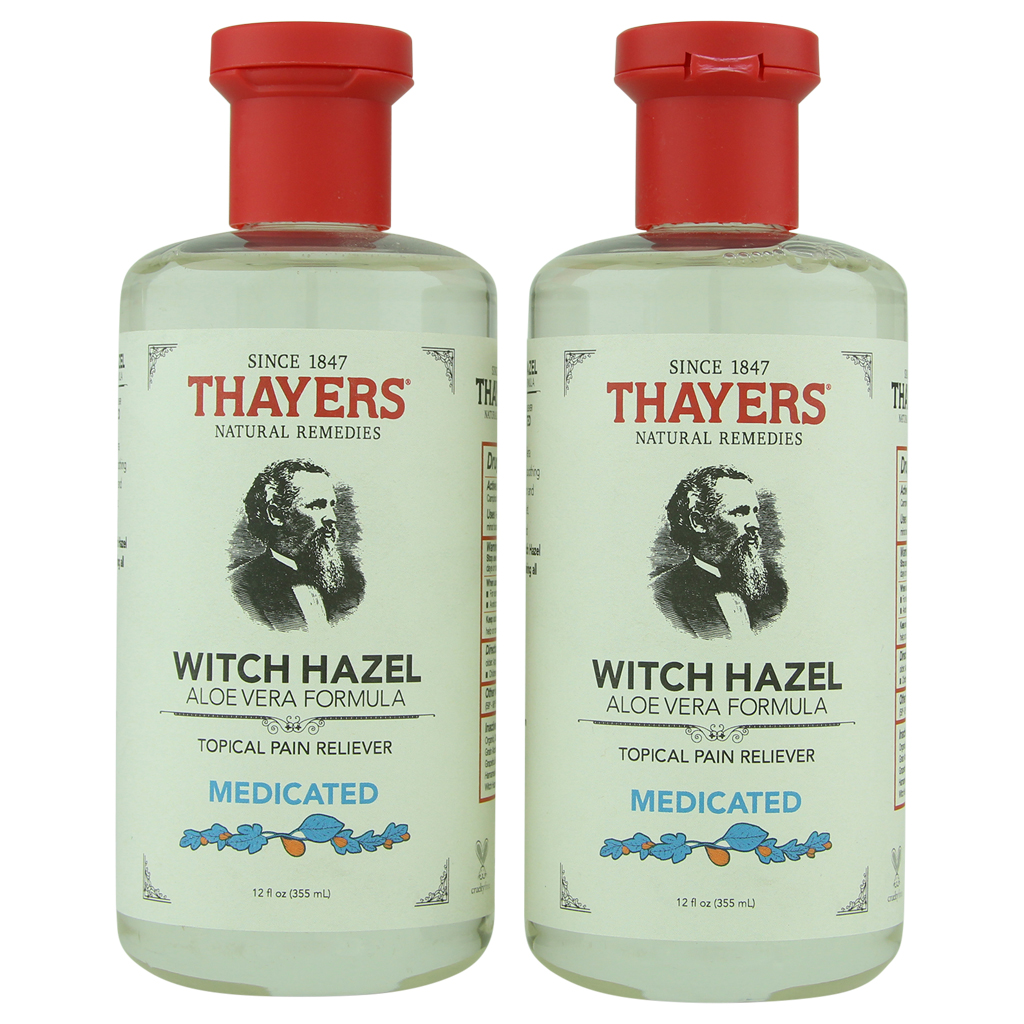 Thayer's Medicated Witch Hazel Astringent with Aloe Vera 2 ct 12 oz