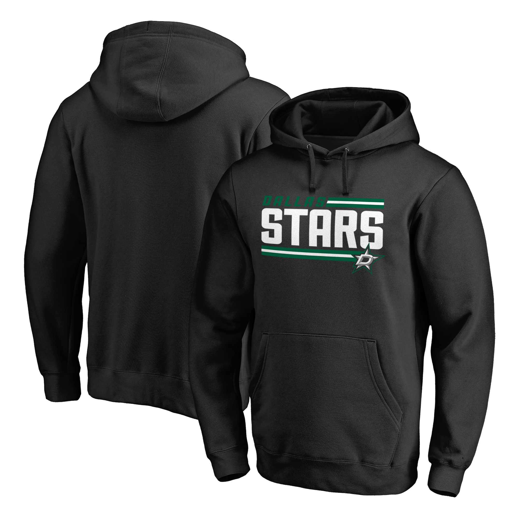 Dallas Stars Fanatics Branded Iconic Collection On Side Stripe Pullover Hoodie - Black