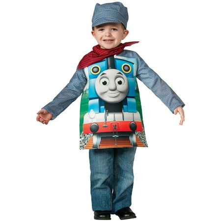 Deluxe Thomas The Tank Child Halloween Costume, Small (4-6) - Tank Top Halloween Costume