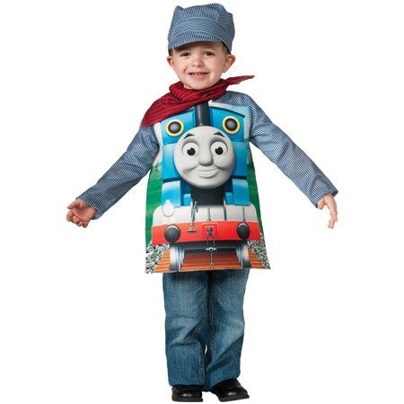 Thomas The Tank Engine Costume For Adults (Deluxe Thomas The Tank Child Halloween Costume, Small)