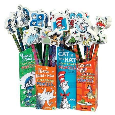 DR. SEUSS PENCIL WITH GIANT ERASER - Dr Seuss Pencils